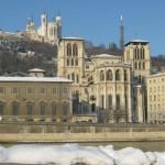 Les quais de Saône, La cathédrale St Jean et Fourvière