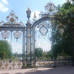 Les superbes grilles du Parc de la Tête d'Or
